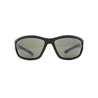 Freedom Polarised Branco Large Wrap Sunglasses In Matte Black Polarised