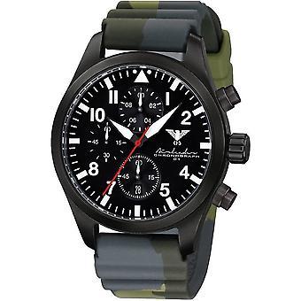 KHS Herrenuhr Airleader black steel chronograph KHS. AIRBSC. DC3