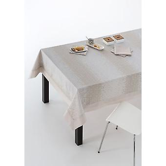 ES-TELA Tablecloth jacquard with napkins zafra stone with wall (Textile , Table textiles)