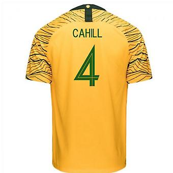 2018-2019 Australia Home Nike Football Shirt (Cahill 4)