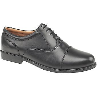 Amblers Mens London Soft Leather Lined Oxford Style Shoe Black