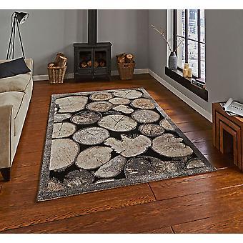 Woodland acho 4626 retângulo cinza creme tapetes tapetes modernos