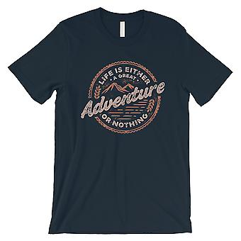 Adventure Or Nothing Mens Navy Motivational T-Shirt Graduation Gift