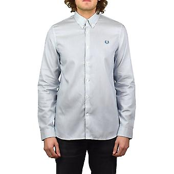 Fred Perry Stripe Long-Sleeved Shirt (Washed Dusk)