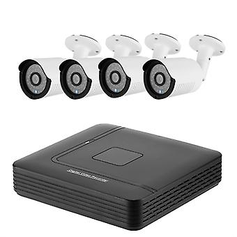 A4B2 4 Channel AHD DVR System - 4 HD IP66 720P Cameras, Motion Detection, 20M Night Vision, Remote Monitoring
