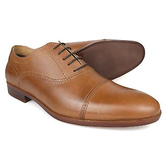 Zapatos de Mens Formal de Hadlow Tan cuero de cinta roja