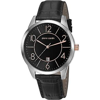 Pierre Cardin mens watch wristwatch leather PC106921F02