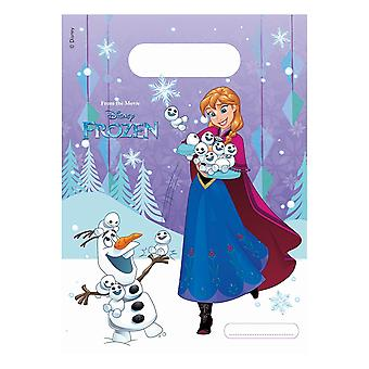 Party bags bags bag frozen snowflakes kids party birthday 6 pieces