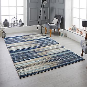 Sansa 82L Blue  Rectangle Rugs Modern Rugs