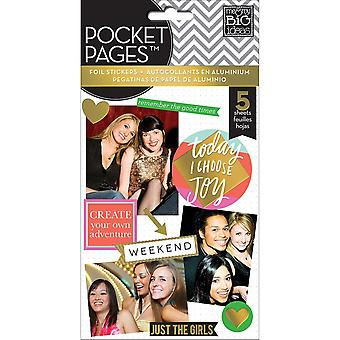 Me & My Big Ideas Pocket Pages Clear Stickers 6 Sheets/Pkg-Big City Brights