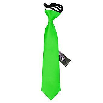Apple Green Plain Satin elastisch stropdas voor jongens