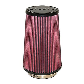 Airaid 701-471 Universal Clamp-On Air Filter: Round Tapered; 4 in (102 mm) Flange ID; 9 in (229 mm) Height; 6 in (152 mm