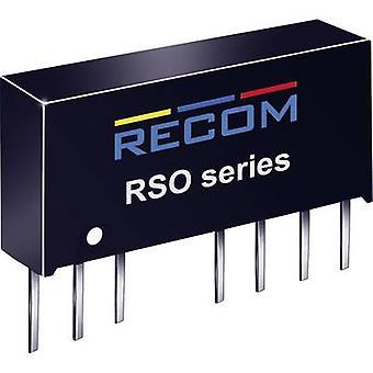 RECOM RSO-1212S DC/DC converter (print) 12 Vdc 12 Vdc 83 mA 1 W No. of outputs: 1 x