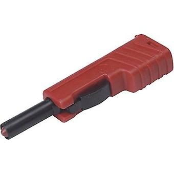 SKS Hirschmann SLS 200 Jack plug Plug, straight Pin diameter: 4 mm Red 1 pc(s)