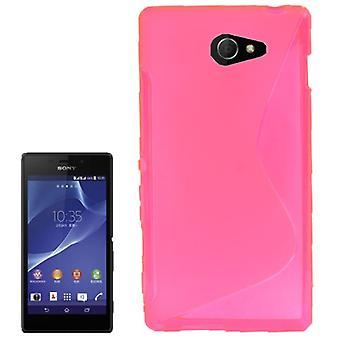 Handyhülle S Line TPU Tasche für Sony Xperia M2 S50h Pink