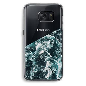 Samsung Galaxy S7 Transparent Case (Soft) - Ocean Wave
