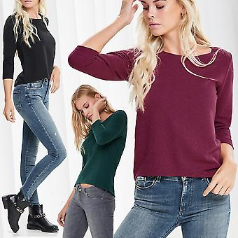 JDY Ladies Shirt 3/4 Sleeve Zip Top Longsleeve Long Sleeve Sweater Longshirt