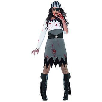 Kvinnor kostymer Zombie pirate kvinna kostym
