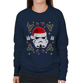 Original Stormtrooper Christmas Hat Trooper Women's Sweatshirt