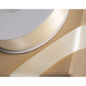 15mm Cream Satin Ribbon for Crafts - 25m | Ribbons & Bows for Crafts
