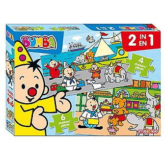 Bumba 2 In 1 Puzzel 4 & 6 St.