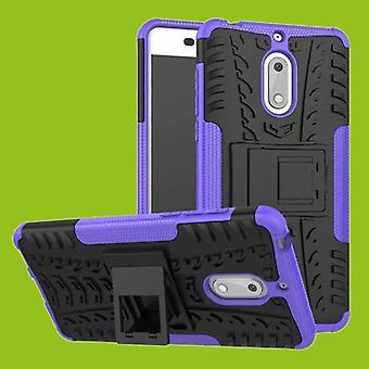 Nokia 3.1 5.2 tommers 2018 hybrid tilfelle 2 stykke Koczian utendørs tilbehør lilla bag coveret beskyttelse