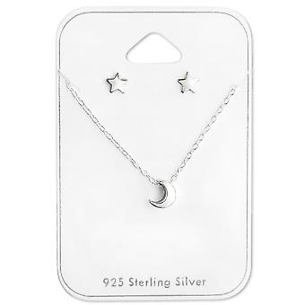Moon And Star - 925 Sterling Silver Sets - W28933x