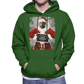 Christmas Mugshot Hans Gruber Men's Hooded Sweatshirt