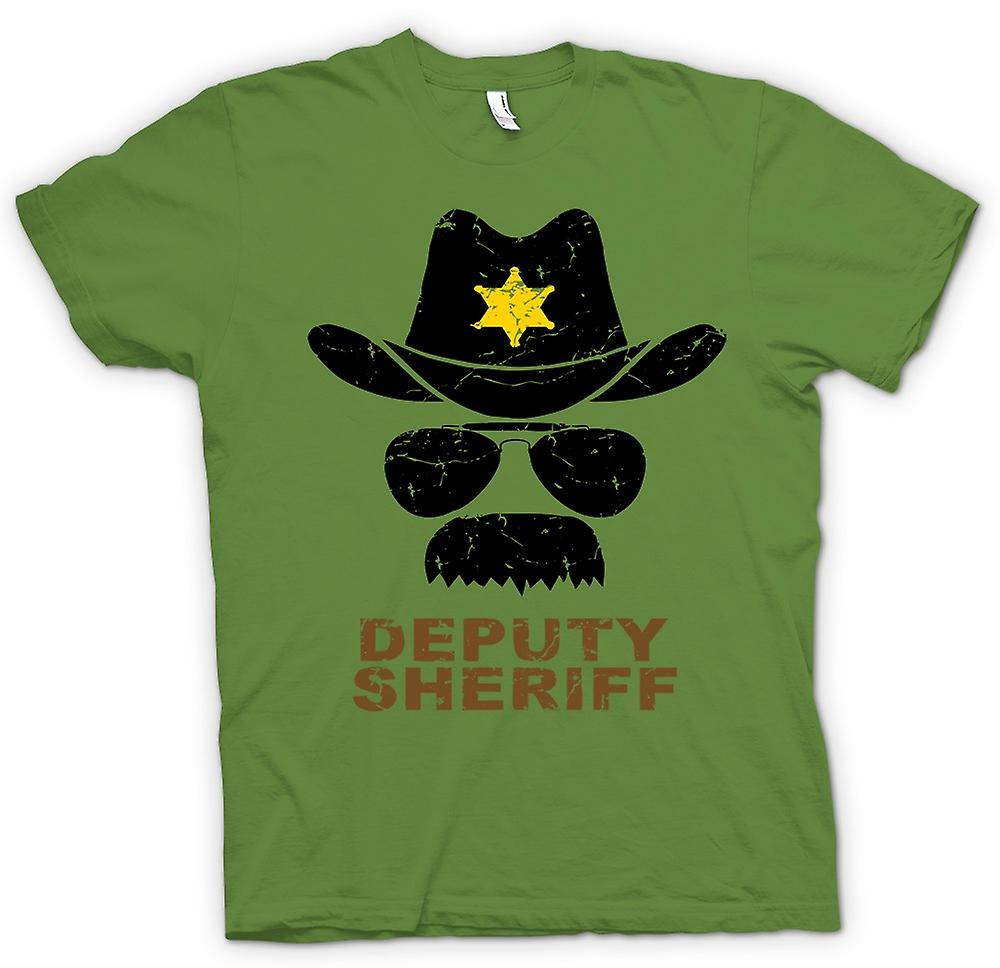 Mens T-shirt - Police adjoint Sherriff Funny - graphisme
