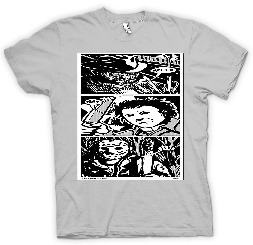 Heren T-shirt - Krueger Myers Voorhees - Horror