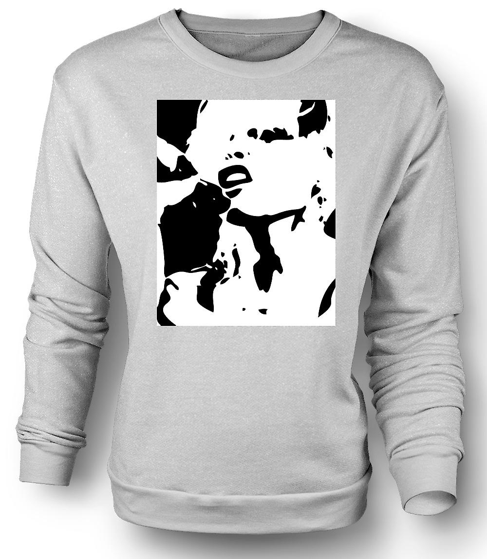 Mens Sweatshirt Blondie - retro musikk BW