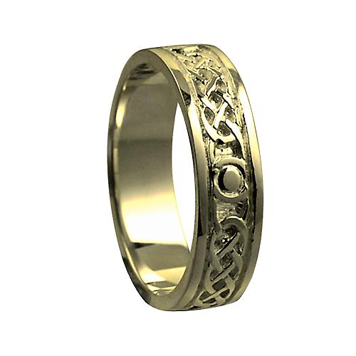 18ct Gold 6mm Celtic Wedding Ring