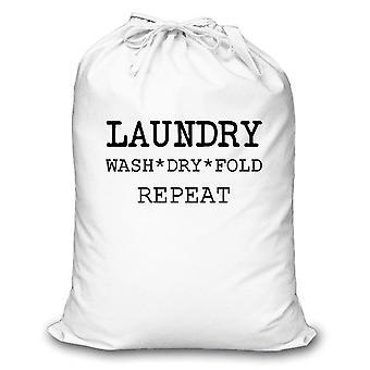 Biały pralnia sucha krotnie Repeat