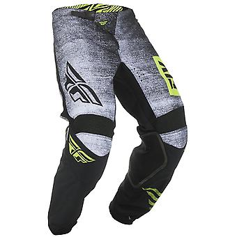 Fly Racing Black-Hi-Vis 2019 Kinetic Noiz Kids MX Pant