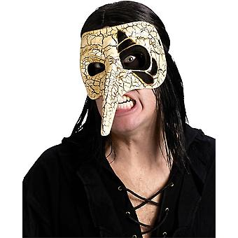 Venezianische Maske Raven Elfenbein für Maskerade