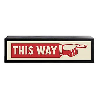 This Way Box Light Uk Light Wall Mounted Display Decoration Sign