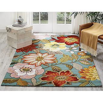 Fantasy FA18 Aqua  Rectangle Rugs Funky Rugs