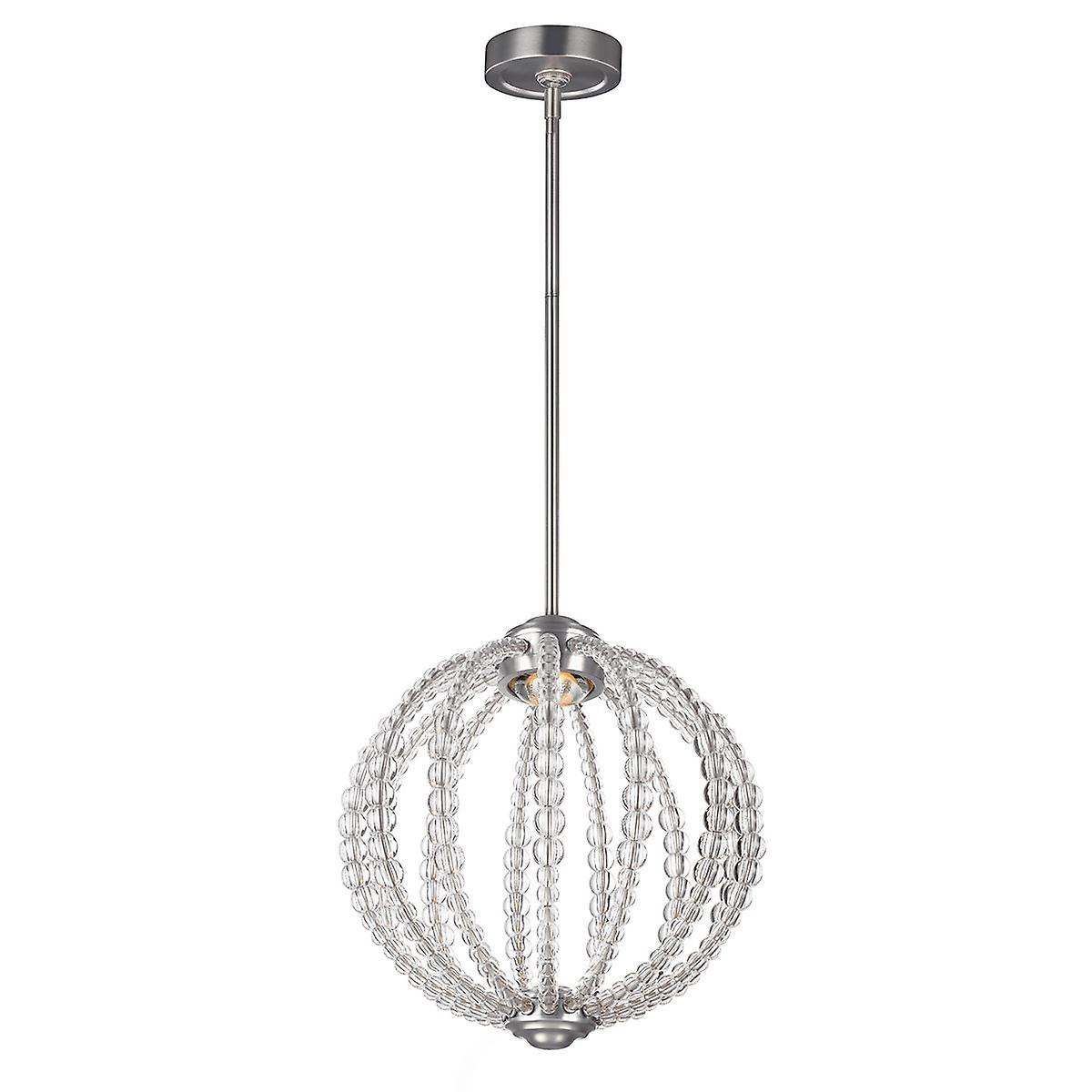 Elstead - Small LED Pendant - Satin Nickel Finish - FE OBERLIN P S