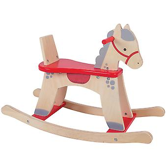 Bigjigs Toys Wooden Rocking Horse with Safe Guard Traditional Rocker Ride On
