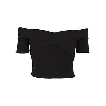 Urban Classics Women's T-Shirt Off Shoulder Cross Rib