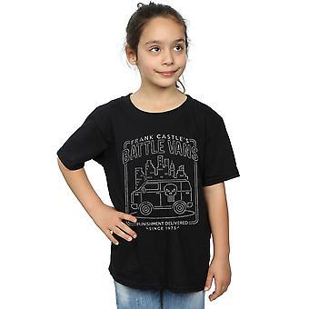 Marvel Girls The Punisher Frank Castle's Battle Vans T-Shirt