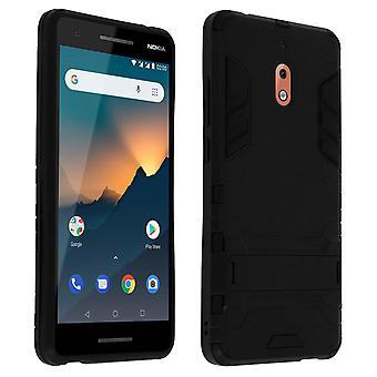Nokia case 2,1 protection antichoc support de fonction bi-matière-noir