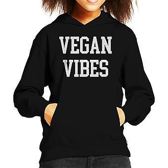 Vegan Vibes Kid's Hooded Sweatshirt