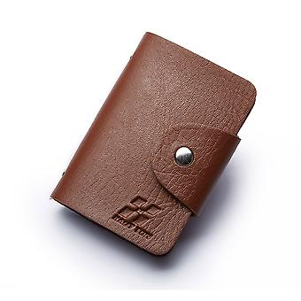 Hautton 24 Credit Card Wallet Stud Front - Brown