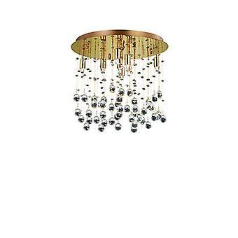 8 lumière moyenne plafond pendentif or