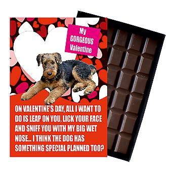 Airedale Terrier Gift for Valentines Day Presents For Dog Lovers Boxed Chocolate
