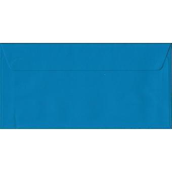 Martin-pêcheur Blue Peel/Seal DL enveloppes couleur bleu. 100gsm FSC papier durable. 110 mm x 220 mm. enveloppe de Style portefeuille.