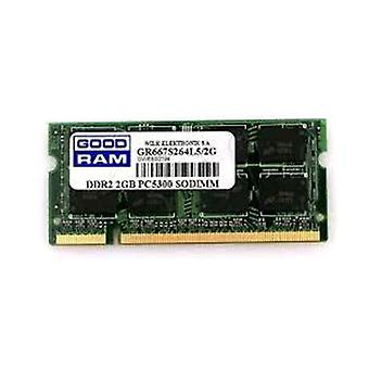 Goodram gr667s264l5/2g ram memory 2gb 667 mhz so-dimm type ddr2 technology