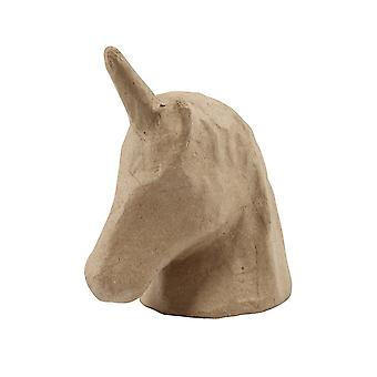 18.5cm Paper Mache Unicorn Head to Decopatch & Decorate | Papier Mache Shapes