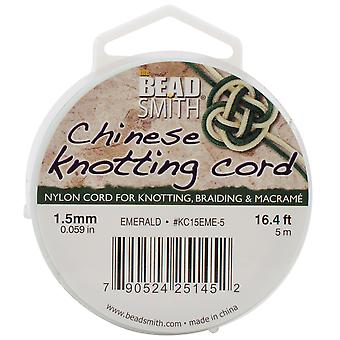 Chinese Knotting Cord 1.5Mm 16.4 Feet Spool Emerald Kc15 Eme 5